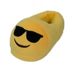 Chaussons Pantoufles Emoji Lunettes