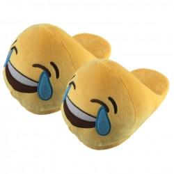 Chaussons Pantoufles Emoji Mort de Rire
