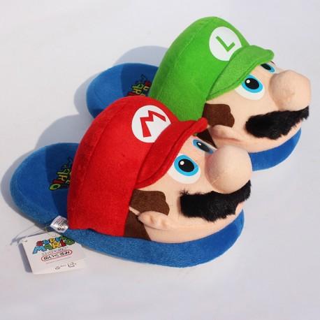 Chaussons Pantoufles Super Mario Luigi