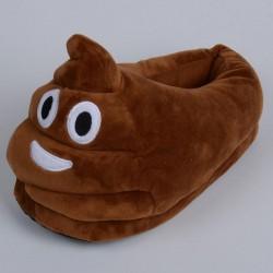 Chaussons Pantoufles Emoji Poo