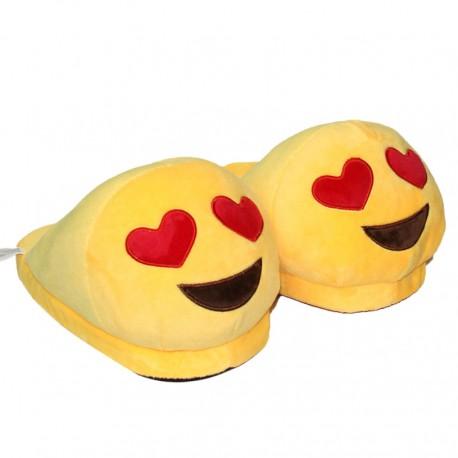 Chaussons Pantoufles Emoji Amoureux