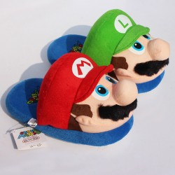 Pantoufles Super Mario Luigi