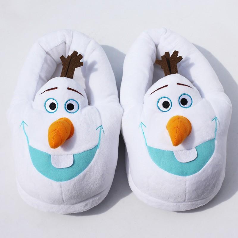 nouveau produit 7248e 8daca Chaussons Pantoufles Olaf Reine des Neiges